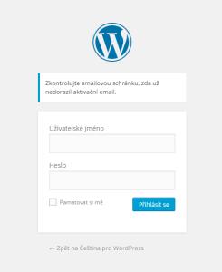 Změna hesla ve WordPressu: Notifikační email odeslán