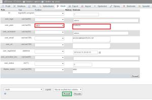 Změna hesla ve WordPressu: Uložení nového hesla pro uživatele admin