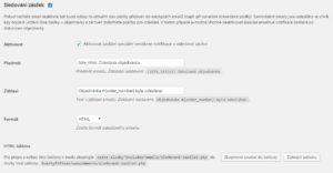 České služby 0.5: Sledování zásilek (možnost nastavení emailu)