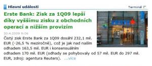 Novinářský blábol - Erste Bank a nižši provize