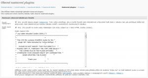 WTR - Obecné nastavení WP-Table Reloaded