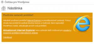 Další informační zprávy (WordPress 3.2)