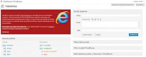 Ukončení podpory Internet Exploreru 6 (WordPress 3.2)