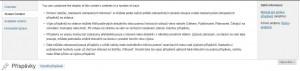 WordPress 3.3 - Odlišné sekce nápovědy