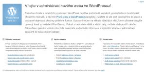 WordPress 3.3: Uvítací obrazovka v češtině