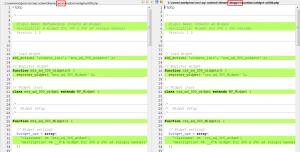 České šablony: Zdrojový kód widget-ad300.php (srovnání)