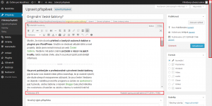 WordPress 3.9.1: Posuvník v editoru (začátek stránky)