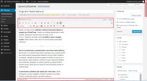 WordPress 4.0: Posuvník v editoru (začátek stránky)