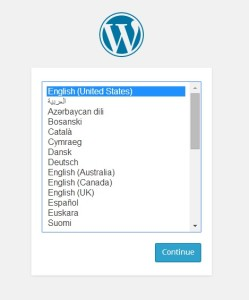 WordPress 4.0: Výběr jazyka při instalaci