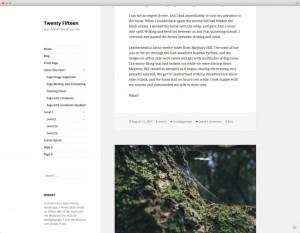 WordPress 4.1: Twenty Fifteen (2015)