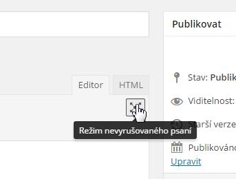WordPress 4.1: Tlačítko pro režim nevyrušovaného psaní
