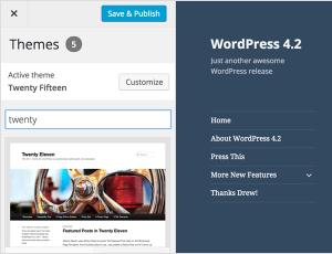 WordPress 4.2: Snadná změna instalované šablony