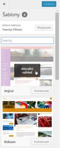 WordPress 4.2: Snadná změna šablony (výběr z instalovaných šablon)