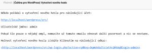 Změna hesla ve WordPressu: Obsah notifikačního emailu