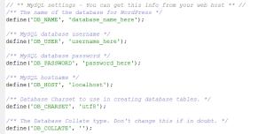 Změna hesla ve WordPressu: Soubor wp-config.php