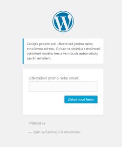 Změna hesla ve WordPressu: Stránka pro získání zapomenutého hesla