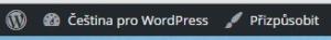 WordPress 4.3: Odkaz Přizpůsobit v navigační liště