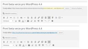 """WordPress 4.4: Chybějící tlačítko """"Zobrazit příspěvek"""""""