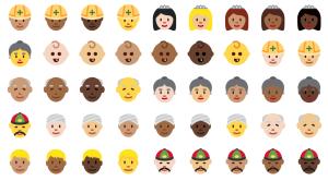 WordPress 4.4.1: Emodži (Unicode 8) - rasová odlišnost