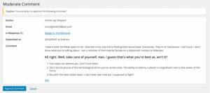 WordPress 4.5: Stránka pro moderování komentářů