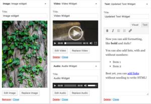 WordPress 4.8: Mediální widgety